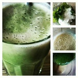 smoothie banana spinach