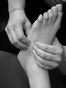 masaż stóp, fizjoterapia