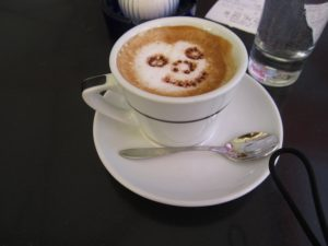 smile, coffee