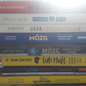 ksiązki neurologiczne, książki o mózgu, neuropsychologia, mózg się myli, udar i przebudzenie, gupi mózg