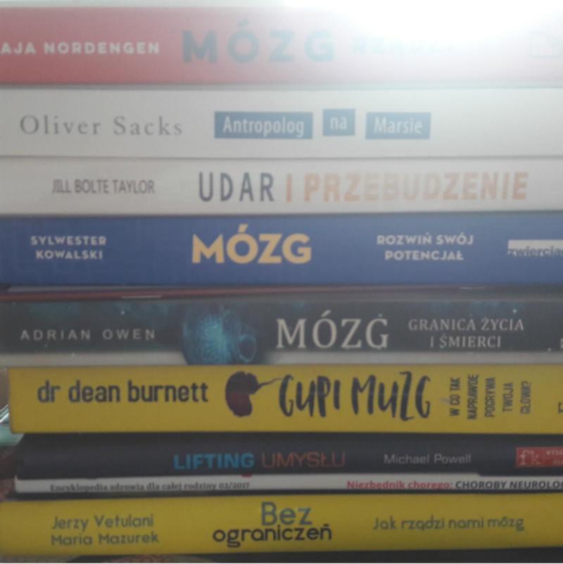 ksiązki neurologiczne, książki o mózgu, neuropsychologia